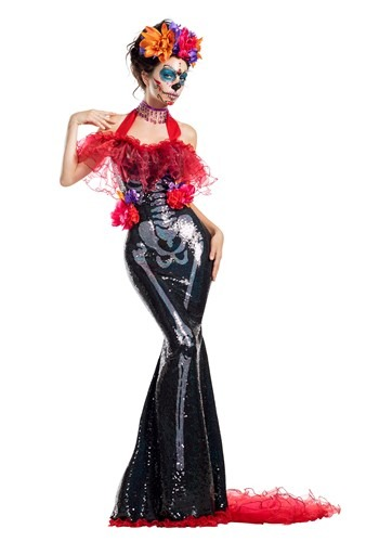 Click Here to buy Glamour Muerta Day of the Dead Womens Costume from HalloweenCostumes, CDN Funds & Shipping