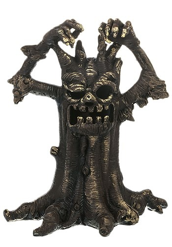 Small Spooky Light Up Tree Figurine