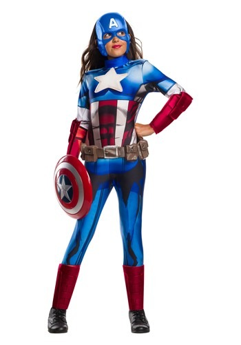 Marvel Girls Captain America Costume