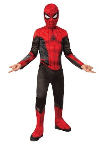 Click Here to buy Spider-Man Far From Home Spider-Man Red and Black Classic Kids Costume from HalloweenCostumes, CDN Funds & Shipping