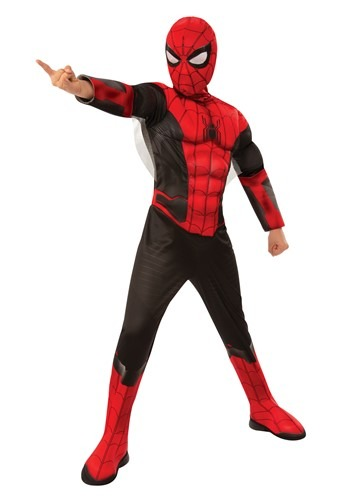 Click Here to buy Marvel Spider-Man Far From Home Spider-Man Kids Red and Black from HalloweenCostumes, CDN Funds & Shipping
