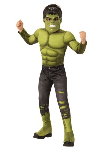 Click Here to buy Deluxe Marvel Avengers Endgame Boys Incredible Hulk Costume from HalloweenCostumes, CDN Funds & Shipping