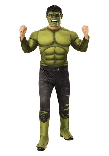 Click Here to buy Avengers Endgame Deluxe Incredible Hulk Mens Costume from HalloweenCostumes, CDN Funds & Shipping