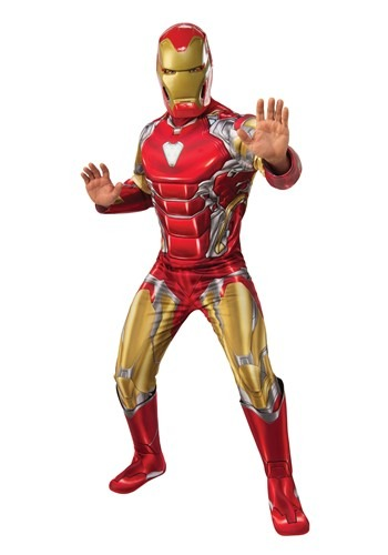 Click Here to buy Deluxe Avengers Endgame Iron Man Mens Costume from HalloweenCostumes, CDN Funds & Shipping