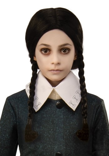 Click Here to buy The Addams Family Kids Wednesday Wig Accessory from HalloweenCostumes, CDN Funds & Shipping