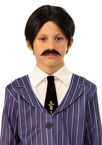 Click Here to buy The Addams Family Kids Gomez Wig and Moustache Accessory from HalloweenCostumes, CDN Funds & Shipping