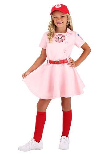 League of Their Own Luxury Kids Dottie Costume For Girls