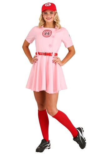 Click Here to buy League of Their Own Luxury Adult Dottie Costume For Women from HalloweenCostumes, CDN Funds & Shipping