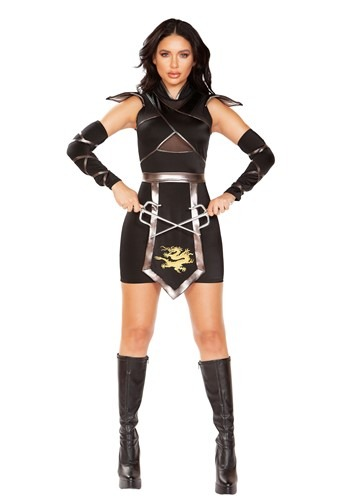 Click Here to buy Womens Sexy Deluxe Ninja Warrior Costume from HalloweenCostumes, CDN Funds & Shipping