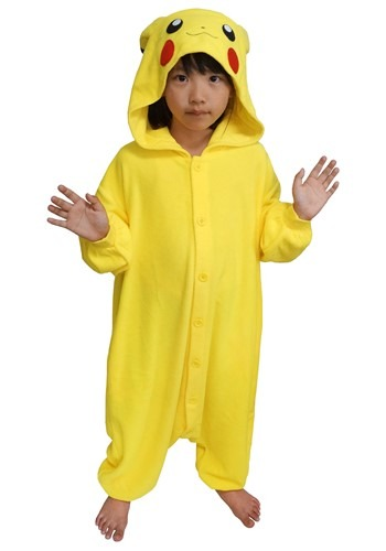 Pokemon Pikachu Kids Kigurumi Costume