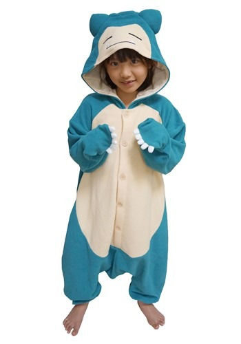 Pokemon Snorlax Kids Kigurumi Costume