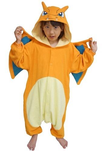 Click Here to buy Pokemon Charizard Kids Kigurumi Costume from HalloweenCostumes, CDN Funds & Shipping