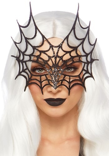 Click Here to buy Diecut Glitter Web Mask from HalloweenCostumes, CDN Funds & Shipping