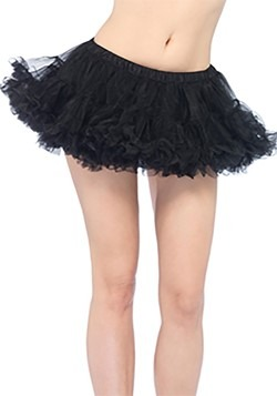 Womens Puffy Black Chiffron Petticoat