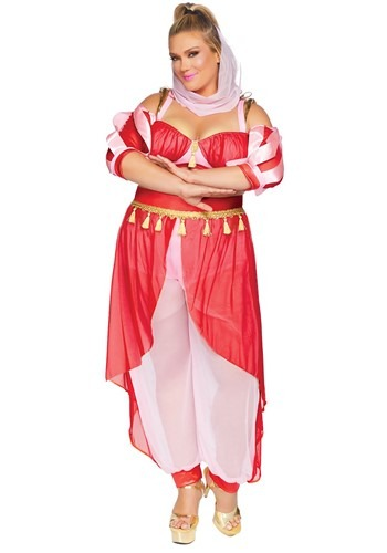 Womens Plus Dreamy Genie Costume