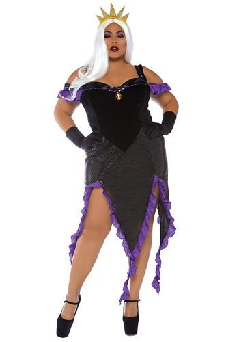 Plus Size Womens Sultry Sea Witch Costume