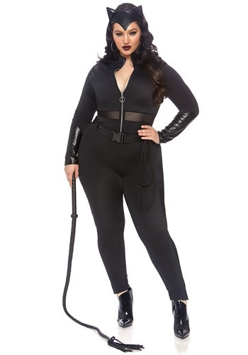 Womens Plus Size Sultry Supervillain Costume