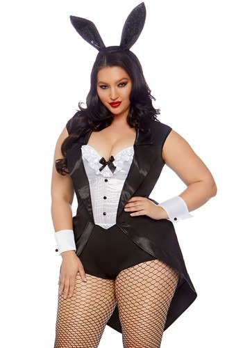 Plus Size Play Time Bunny Costume for Women