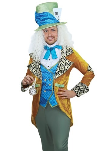 Click Here to buy Storybook Mad Hatter Mens Costume from HalloweenCostumes, CDN Funds & Shipping
