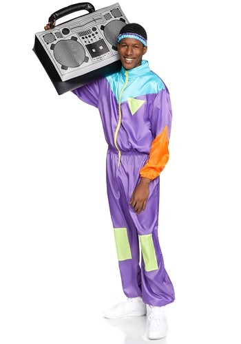 Click Here to buy Mens Awesome 80s Track Suit Costume from HalloweenCostumes, CDN Funds & Shipping