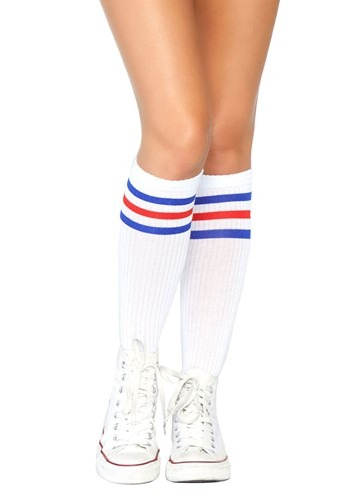Click Here to buy Red & Blue Striped Athletic Socks from HalloweenCostumes, CDN Funds & Shipping