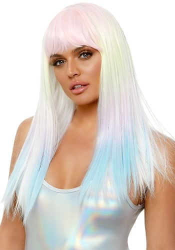 Click Here to buy Black Light Pastel Rainbow Womens Wig from HalloweenCostumes, CDN Funds & Shipping