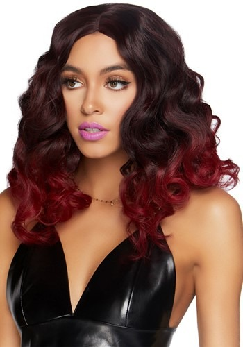 Womens Ombre Curly Burgundy Wig