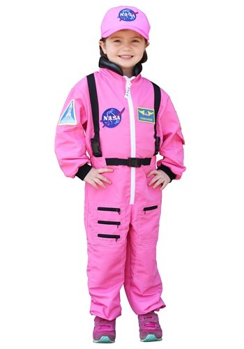 Click Here to buy Pink Astronaut Girls Costume from HalloweenCostumes, CDN Funds & Shipping