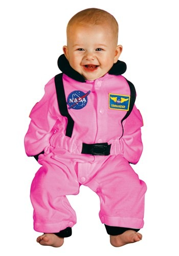 Click Here to buy Baby Pink Astronaut Costume (6-12Mo) from HalloweenCostumes, CDN Funds & Shipping