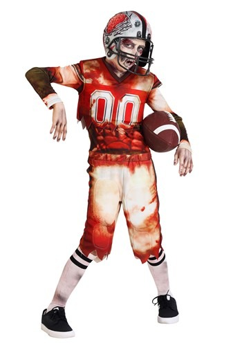 Child's Zombie Football Player Costume