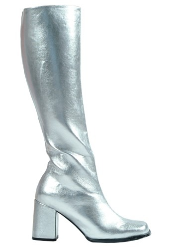 Click Here to buy Silver Gogo Boots for Women from HalloweenCostumes, CDN Funds & Shipping