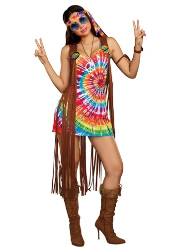 Click Here to buy Hippie Hottie Womens Costume from HalloweenCostumes, CDN Funds & Shipping
