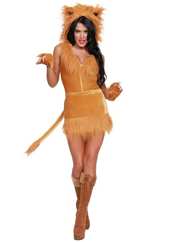 Queen of the Jungle Lion Costume for Women