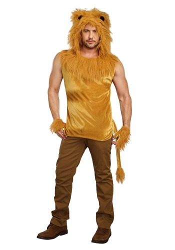 Click Here to buy King of the Jungle Lion Mens Costume from HalloweenCostumes, CDN Funds & Shipping