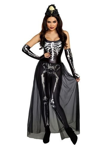 Click Here to buy Bare Bone Babe Skeleton Womens Costume from HalloweenCostumes, CDN Funds & Shipping
