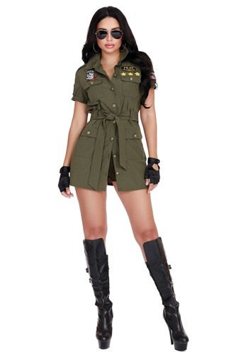 Click Here to buy Womens Fighter Pilot Costume from HalloweenCostumes, CDN Funds & Shipping