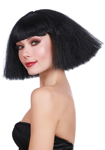 Click Here to buy Black Crimped Wedge Bob Wig for Women from HalloweenCostumes, CDN Funds & Shipping