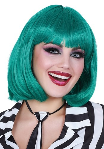 Click Here to buy Teal Bob Wig for Women from HalloweenCostumes, CDN Funds & Shipping