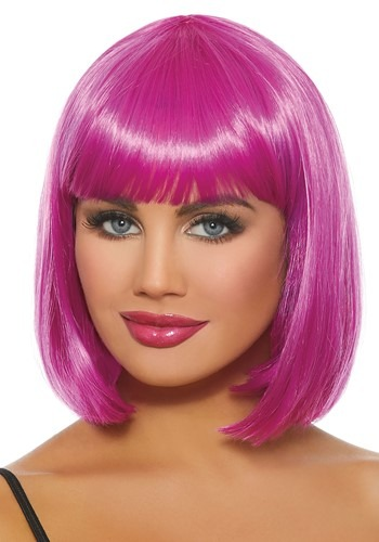 Click Here to buy Magenta Bob Wig for Women from HalloweenCostumes, CDN Funds & Shipping