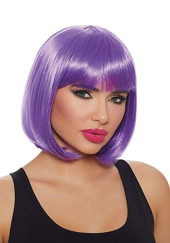 Click Here to buy Purple Short Bob Wig for Women from HalloweenCostumes, CDN Funds & Shipping