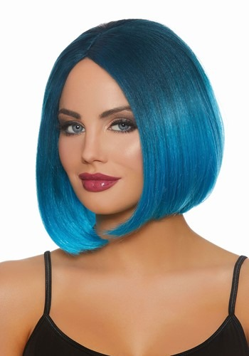 Blue Ombre Wig for Women