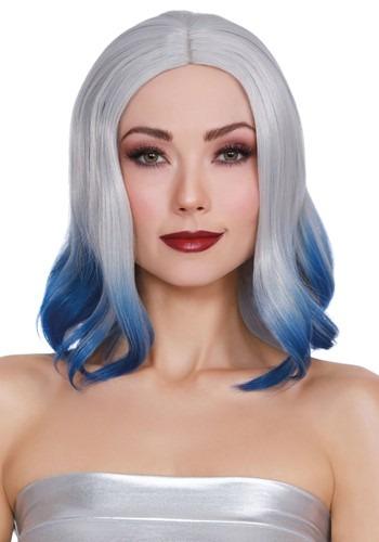 Dip Dye Grey/Blue Wig