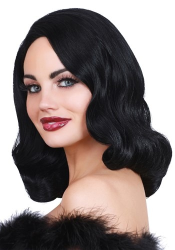 Hollywood Glamour Black Wig