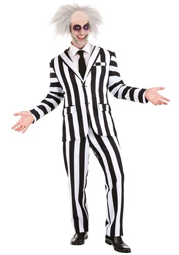 Mens Beetlejuice Suit Costume