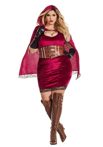 Sexy Red Riding Hood Womens Plus Size Costume