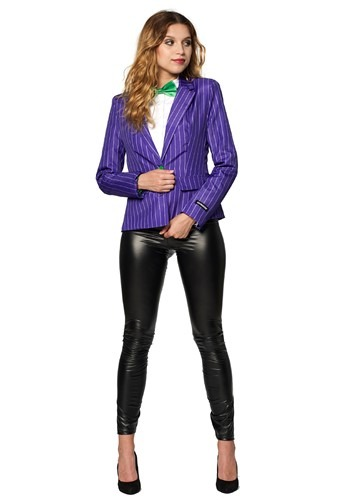 Click Here to buy The Joker Womens Blazer Suitmeister from HalloweenCostumes, CDN Funds & Shipping