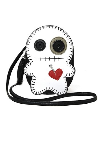 Black/White Voodoo Doll Purse