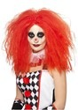 Women's Red Crimped Clown Wig