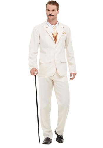 Click Here to buy Roaring 20s White Adult Costume from HalloweenCostumes, CDN Funds & Shipping