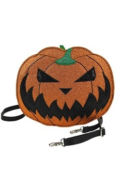 Glitter Jack O' Lantern Crossbody Bag